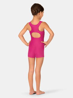 Girls Tank Keyhole Cutout Shorty Unitard
