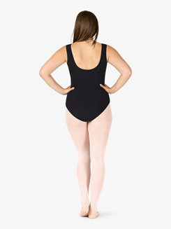 Womens Plus Size Vintage Wrap Front Tank Leotard