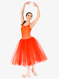 Womens Camisole 3-Layer Ballet Tutu Dress