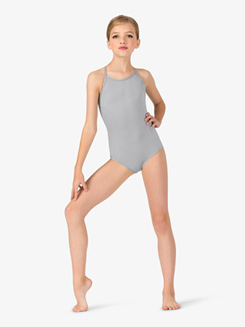 Studio Collection Girls X-Back Cotton Camisole Leotard