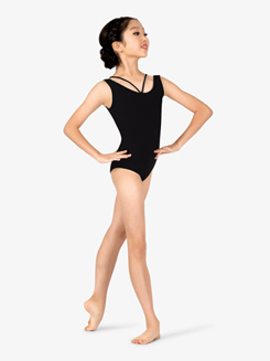 Studio Collection Girls Strappy Cotton Tank Leotard