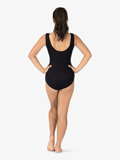 Adult Curvy Fit Mock Wrap Tank Leotard