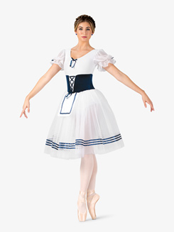 Womens Giselle Puff Short Sleeve Costume Dress