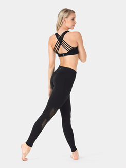 Adult Kimberly Mesh Insert Ankle Leggings