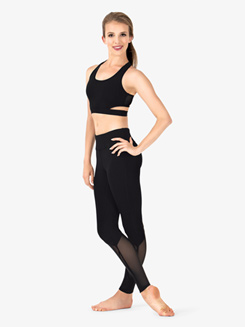 Womens Diamond Mesh Workout Leggings