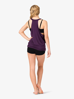 Womens Active Front Cutout Tank Top