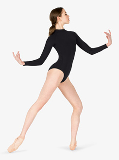 Womens Compression Mock Neck Leotard