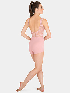 Womens Tiler Peck Lace Tank Dance Shorty Unitard