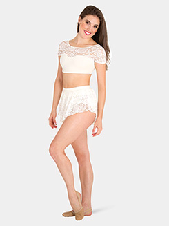Womens Tiler Peck Short Lace Dance Skirt