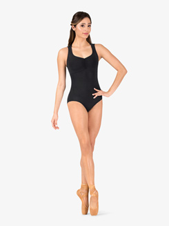Womens Weave Strappy Back Tank Leotard