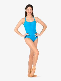 Womens Open Strappy Back Camisole Leotard