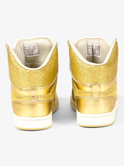 Glam Pie Glitter Gold Sneakers