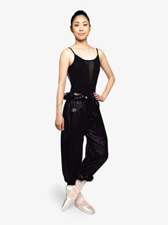 Womens High Waist Garbage Bag Dance Pants