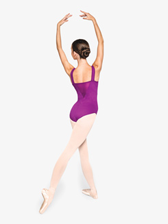 Womens Focused Plunging Mesh Tank Leotard
