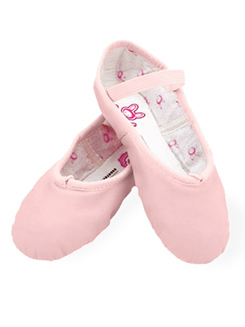 Bunny Hop Child Full Sole Leather Ballet Slipper