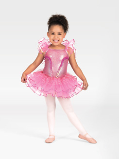 Child Tutu Costume Dress with Flutter Sleeves