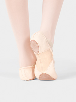 Adult Canvas Stretch Split-Sole SofTouch Ballet Slipper