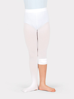 Girls Convertible Tights with Smooth Self-Knit Waistband