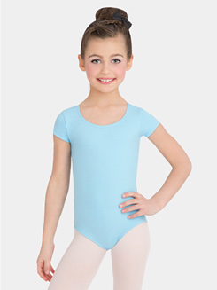 Girls Economy Short Sleeve Leotard