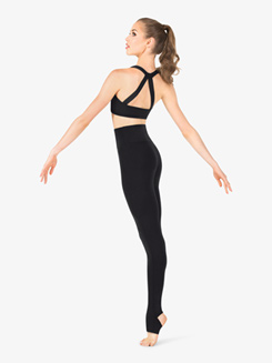 Womens High Rise Stirrup Dance Leggings