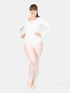 Adult Plus Size Long Sleeve Leotard