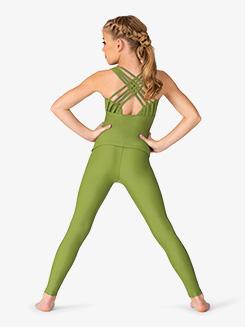 Womens Multi-Strap Back Tank Dance Top