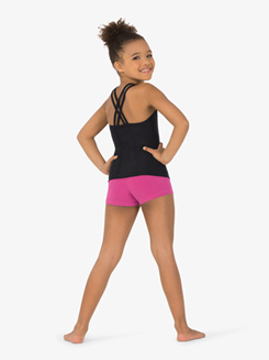 Girls Double Strap Back Camisole Dance Top