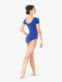 Womens Pinched Short Sleeve Leotard