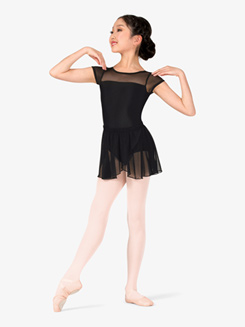 Girls Mock Wrap Pull-On Ballet Skirt