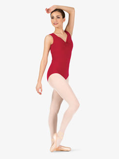 Womens Pinched Front Tank Leotard