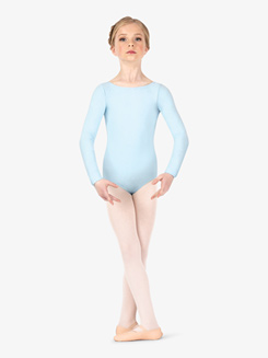 Girls Boatneck Long Sleeve Leotard