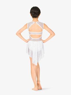 Girls Performance Twinkle Mesh Overlay Cap Sleeve Dress