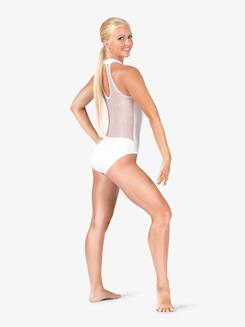Womens Performance Twinkle Sequin Mesh Sweetheart Leotard