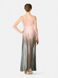Adult Floor-Length Paneled Mesh Dress