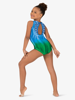 Girls Hand Painted Lace Tank Leotard