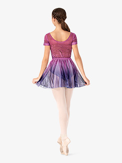 Girls Hand Painted Mesh Ballet Skirt