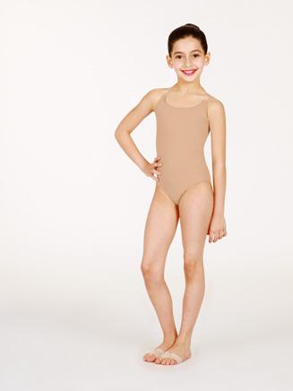 Child Camisole Leotard w/See-Through Straps - Style No 0266