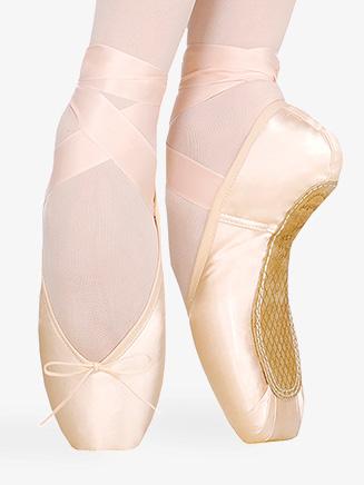 "Womens ""Maya"" V-Shape Vamp Pointe Shoes - Style No 0504N"