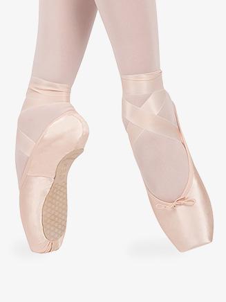 "Womens ""Smart"" Satin Anti-Slip Pointe Shoes - Style No 0537N"