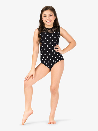 Girls Polka Dot Print Tank Leotard - Style No 18057C