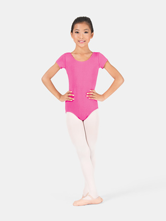 Girls Trestle Back Short Sleeve Dance Leotard - Style No 1827C