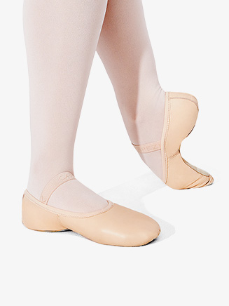 "Girls ""Lily"" Leather Full Sole Ballet Shoes - Style No 212C"