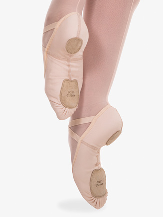 Girls 4-Way Total Stretch Ballet Shoes by Angelo Luzio - Style No 248C