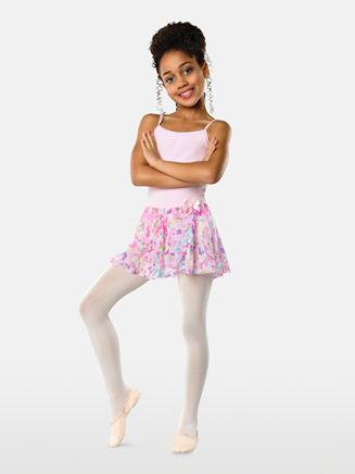 Girls Flower Print Ballet Skirt - Style No 2605C