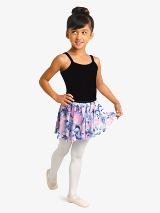 Girls Hydrangea Print Pull-On Ballet Skirt - Style No 2750C