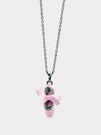 Enamel Ballet Shoe Necklace - Style No 2789