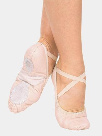 Adult Silhouette Leather Split-Sole Ballet Shoes - Style No 3AL