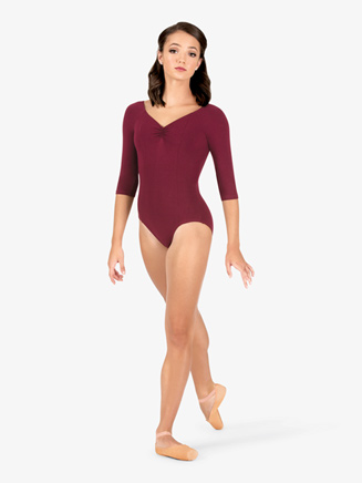 Adult 3/4 Sleeve Dance Leotard - Style No 7121