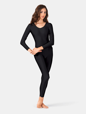 Adult Nylon Scoop Neck Long Sleeve Unitard - Style No 811