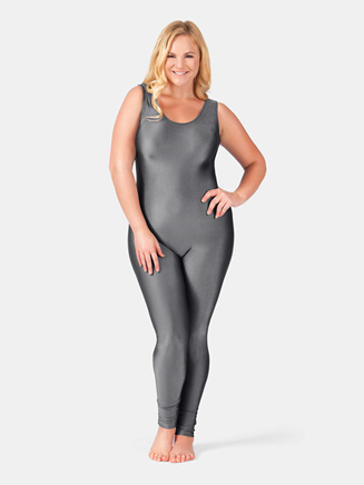 Adult Plus Size Nylon Scoop Neck Tank Unitard - Style No 813P
